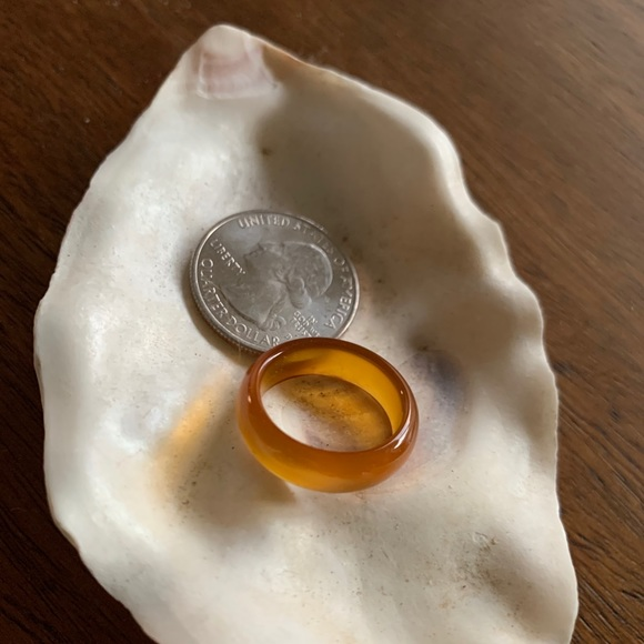 size 7 amber agate ring